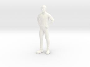 Jonny Quest - Race Bannon in White Processed Versatile Plastic