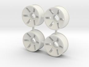 Front Rim x4 Diameter 19.5mm Offset -0.5 in White Natural Versatile Plastic
