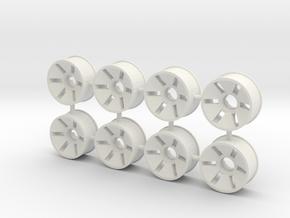 Front Rim x8 Diameter 19.5mm Offset -0.5 in White Natural Versatile Plastic