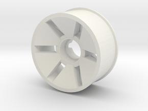 Front Rim Diameter 19.5mm Offset -0.5 in White Natural Versatile Plastic