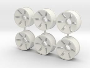 Front Rim x6 Diameter 19.5mm Offset -0.5 in White Natural Versatile Plastic