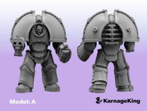 ST:1 Invader Armor - Base Model: A in Smooth Fine Detail Plastic