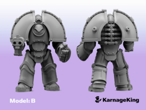ST:1 Invader Armor - Base Model:B in Smooth Fine Detail Plastic