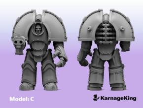 ST:1 Invader Armor - Base Model:C in Smooth Fine Detail Plastic