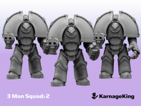 3x ST:1 Invader Squad:2 - Base in Smooth Fine Detail Plastic