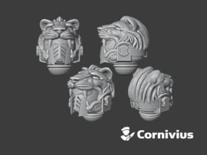 10x G:10 Prime Lion Helms in Smooth Fine Detail Plastic