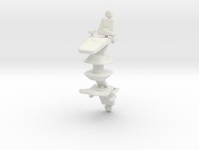 Dentist Chair (x2) 1/43 in White Natural Versatile Plastic