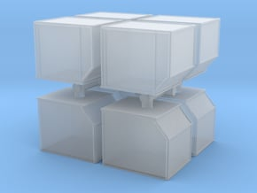 AKE Air Container (closed) (x8) 1/220 in Smooth Fine Detail Plastic