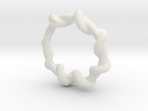 Snake Ring in White Natural Versatile Plastic