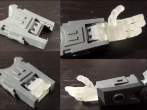 Ripwave Mecha Suit – Poseable Hands in Smooth Fine Detail Plastic