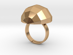 disco ball ring polished in Polished Bronze