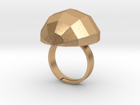 disco ball ring matte in Natural Bronze