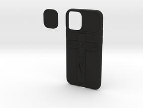 IPhone 11 Max Pro Jesus Cover in Black Natural Versatile Plastic