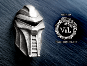 Cylon CENTURION Pendant ⛧VIL⛧ in Polished Bronzed-Silver Steel: Small