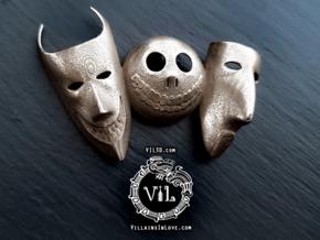 NBC TRIO Pendant ⛧ VIL ⛧ in Polished Bronzed-Silver Steel
