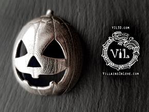Halloween 3 PUMPKIN Pendant ⛧VIL⛧ in Polished Bronzed-Silver Steel: Small