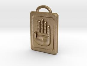 JoJo Hand Emblem in Polished Gold Steel