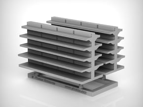 Grocery Shelf  01. 1:87 Scale (HO) in Smooth Fine Detail Plastic