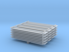Grocery Shelf (x4) 1/220 in Smooth Fine Detail Plastic