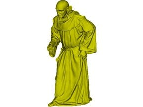 1/20 scale Catholic priest monk figure B in Smooth Fine Detail Plastic