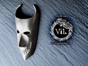LOCK NBC Pendant ⛧ VIL ⛧ in Polished Bronzed-Silver Steel