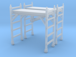 Scaffolding Unit (x2) 1/76 in Smooth Fine Detail Plastic