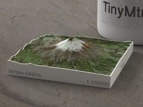 Volcan Cotopaxi, Ecuador, 1:150000 in Natural Full Color Sandstone
