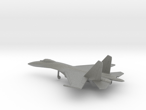 Sukhoi Su-27 Flanker in Gray PA12: 6mm