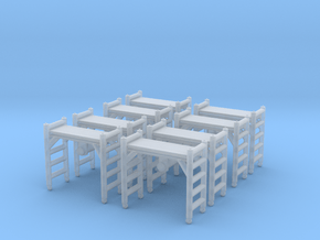 Scaffolding Unit (x8) 1/160 in Smooth Fine Detail Plastic