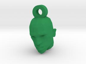 CJ keychain in Green Processed Versatile Plastic