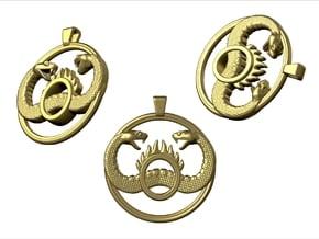 Conan_pendant_40mm in Natural Bronze