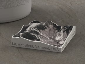 Mt. Mansfield in Winter, Vermont, USA, 1:100000 in Natural Full Color Sandstone