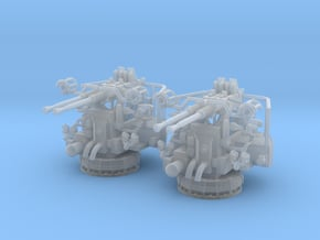 1/96 USN 40mm Bofors Twin Mount Set 2 Units in Smooth Fine Detail Plastic