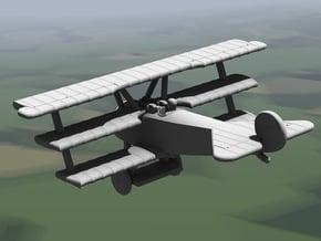 Fokker Dr.I (multiple scales) in White Natural Versatile Plastic: 1:144