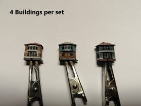 Railway Signal Tower (x4) 1/700 in Smooth Fine Detail Plastic