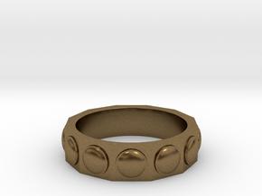 Dalek Ring in Natural Bronze: 6 / 51.5