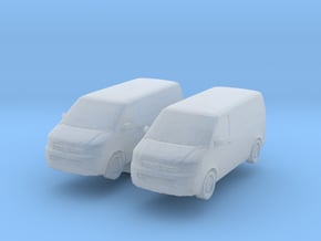 VW Transporter T5 (x2) 1/160 in Smooth Fine Detail Plastic