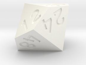 6 times table d10 in White Processed Versatile Plastic