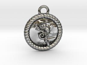 Rope-Seil-Chameleon-4l in Polished Silver