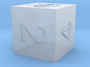 D6 Space Invaders Alien Symbol Logo in Smoothest Fine Detail Plastic