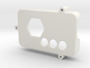 Mobius Case Top in White Natural Versatile Plastic
