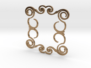 Ornamental Pendant in Natural Brass