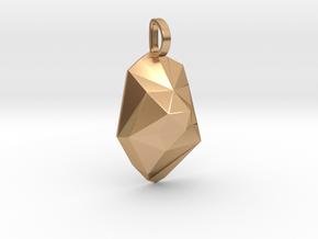 iceberg pendant in Polished Bronze