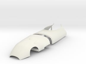 1/12 Lotus 16 cowl and engine cover panels in White Natural Versatile Plastic