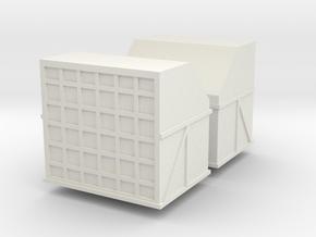AMX Air Cargo Container (x2) 1/144 in White Natural Versatile Plastic