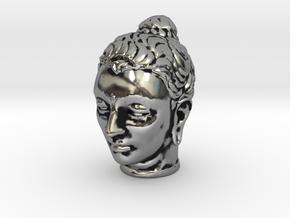 Gandhara Buddha 1.5 inches tall in Antique Silver