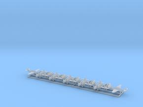 TBF w/Gear x8 (WW2) in Smooth Fine Detail Plastic: 1:500