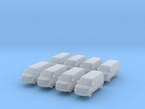 VW Transporter T5 (x8) 1/500 in Smooth Fine Detail Plastic