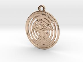Pictogramm pattern in 14k Rose Gold