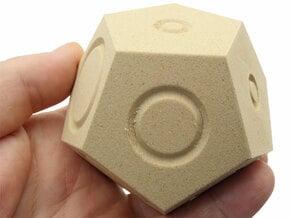 Bizarro Dodecahedron in White Natural Versatile Plastic